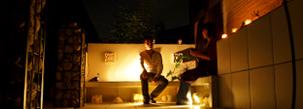 夜の気持ち良さを屋外で楽しむアジアンモダンガーデン