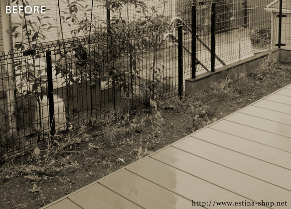 ウッドデッキのみのお庭