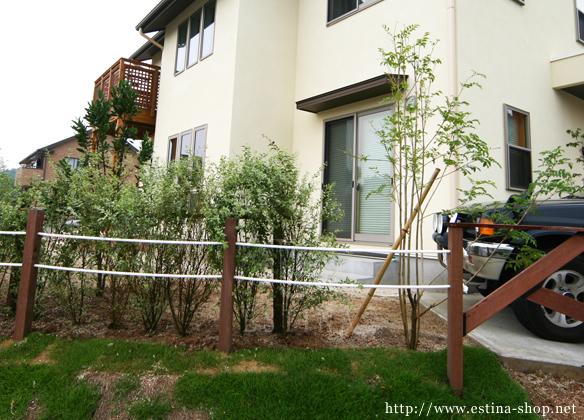 木材とロープでつくるオリジナルフェンス